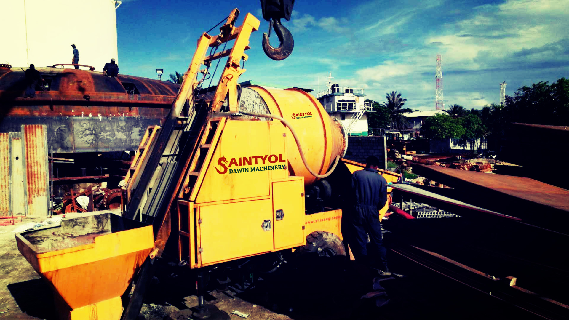 The Advantage of Diesel Concrete Mixing Pump All in One Machine from Saintyol DAWIN Machinery